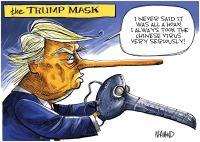 The Trump mask