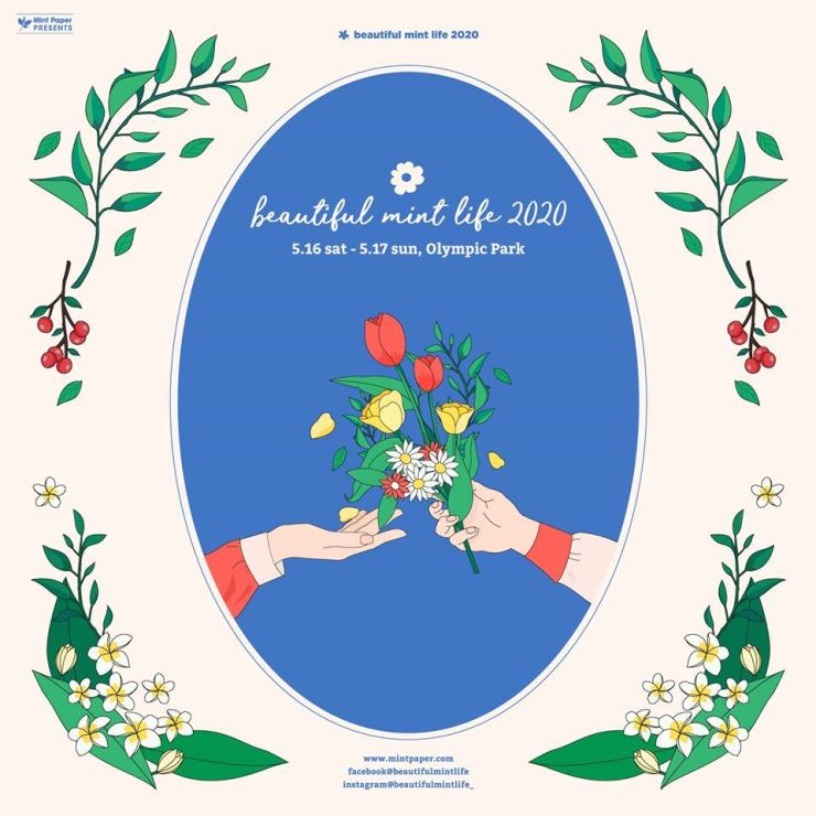 Seen is a poster for Beautiful Mint Life 2020, one of the major indie music events in Korea. Courtesy of Mintpaper