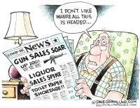 Soaring gun, liquor sales