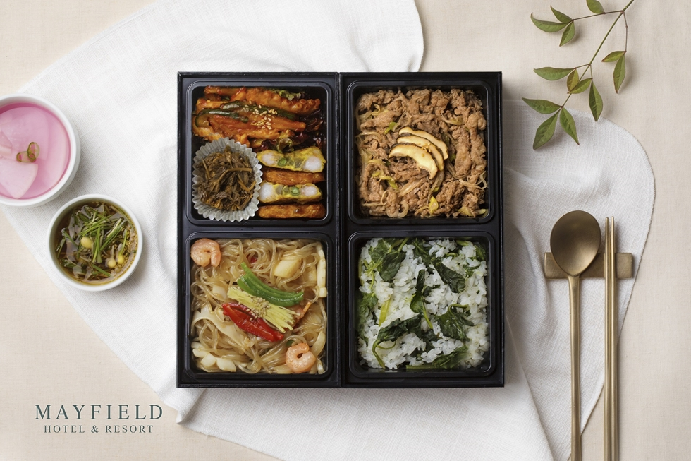 Four Points by Sheraton Seoul Namsan offers to-go box for people who want to avoid eating at crowded restaurants amid the global COVID-19 pandemic. / Courtesy of Four Points by Sheraton Seoul Namsan