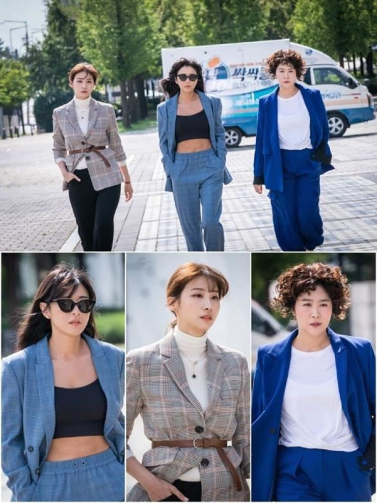 Stills from the action-comedy series 'Good Casting,' which had a 12. 3 percent viewership rating on Monday/ Courtesy of SBS