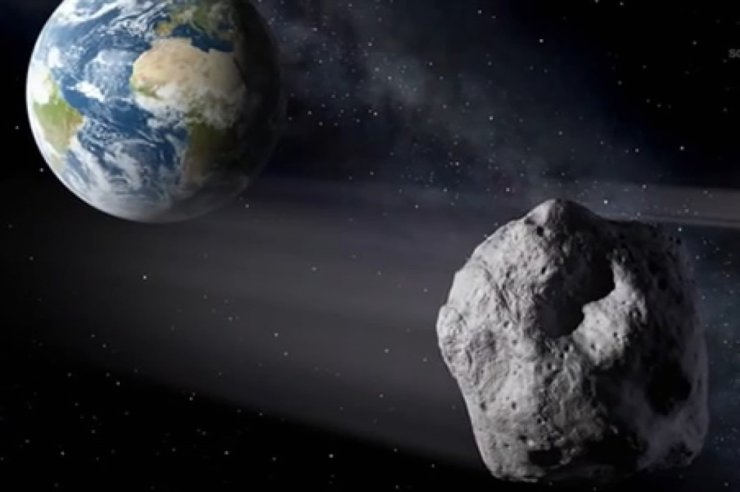 A mountain-sized 'potentially hazardous' asteroid is approaching Earth. Image created by NASA