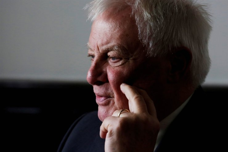 Former Hong Kong governor Chris Patten in Hong Kong / Reuters