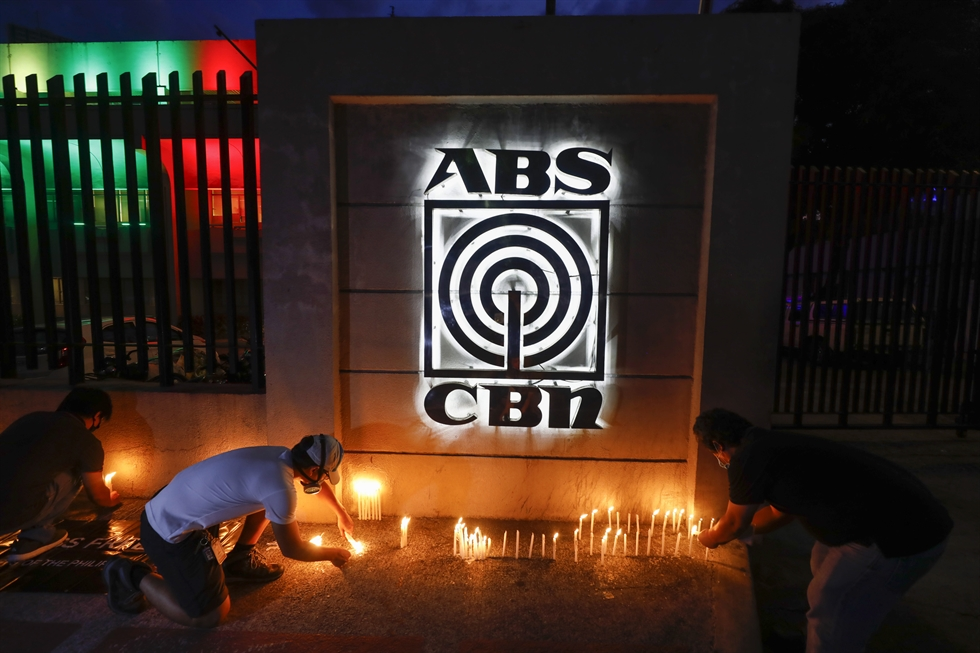 An ABS-CBN crew vehicle enters network headquarters in Quezon City, Metro Manila, Philippines, 05 May 2020. Reports stated that the National Telecommunications Commission (NTC) issued on 05 May a Cease-and-Desist Order for ABS-CBN to stop broadcasting on television and radio, a day after the company's 25-year operating franchise expired. EPA/ROLEX DELA PENA