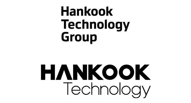 On top is the logo for Hankook Tire's holding firm, Hankook Technology Group, and on bottom is the logo for Hankook Technology.