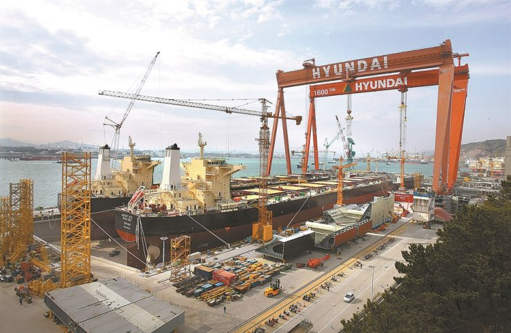 Hyundai Heavy Industries shipyard in Ulsan Metropolitan City / Courtesy of Hyundai Heavy Industries