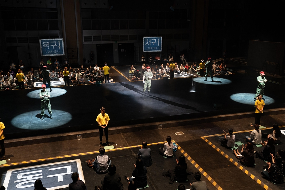A scene from immersive play 'I Was Not in Gwangju' staged at the Asia Culture Center / Courtesy of Asia Culture Center