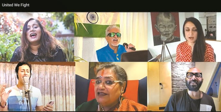 Indian musicians sing 'United We Fight,' a song they jointly made with support of the Indian Council for Cultural Relations (ICCR) to help the world overcome the COVID-19 pandemic. / Captured from YoutTube
