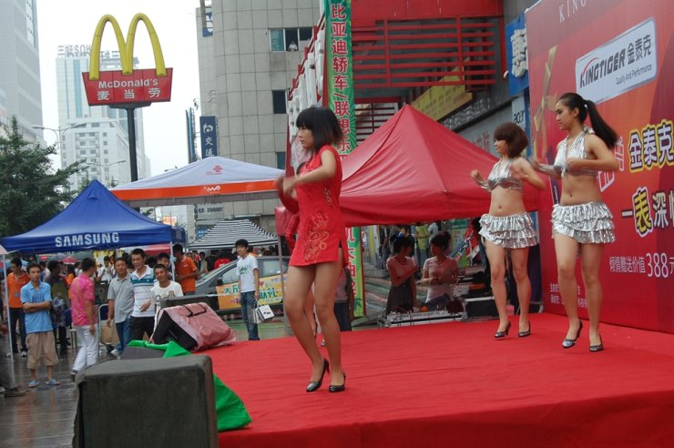 Chinese performers dance to 'Nobody' by Wonder Girls in Shenyang, China, in 2010. Courtesy of Jon Dunbar