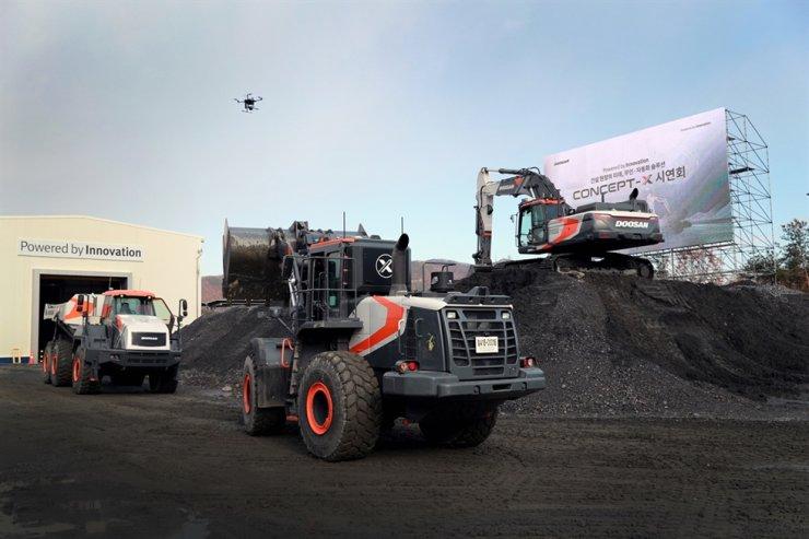 Doosan Infracore's construction equipment / Courtesy of Doosan Infracore