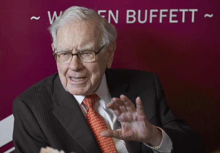 Warren Buffett, Chairman and CEO of Berkshire Hathaway, speaks following the annual Berkshire Hathaway shareholders meeting in Omaha, Neb. in this 2019 file photo. /AP