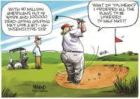 Trump golfs while America burns