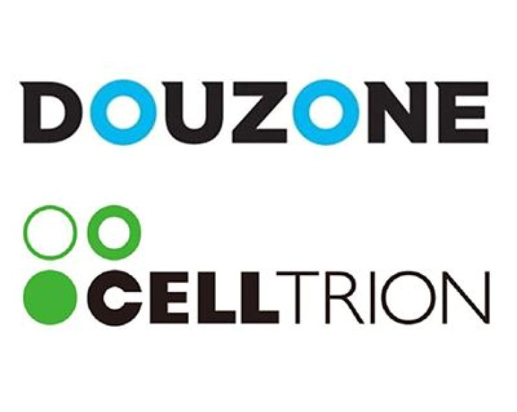 Seen above are corporate logos of Douzone Bizon and Celltrion Pharm. Courtesy of each firm