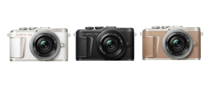 Olympus' PEN E-PL10 mirrorless cameras / Courtesy of Olympus Korea