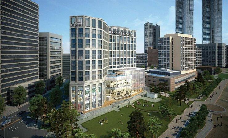 A computer-generated image of Grand Josun Busan, which Shinsegae Chosun Hotel will open in the southeastern port city in August / Courtesy of Shinsegae Chosun Hotel