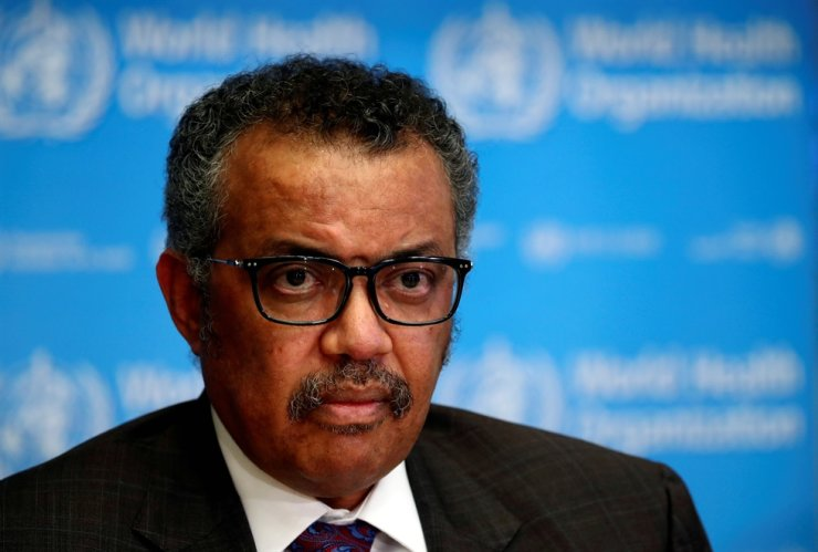 Director General of the World Health Organization Tedros Adhanom Ghebreyesus attends a news conference on the situation of the COVID-19 pandemic in Geneva, Switzerland, Feb. 28, 2020. Reuters