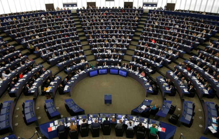 Members of the European Parliament take part in a voting session in Strasbourg, France, Nov. 28, 2019. Reuters