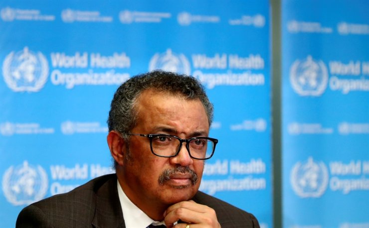 Director General of the World Health Organization Tedros Adhanom Ghebreyesus attends a news conference on the situation of COVID-19 in Geneva, Switzerland, Feb. 28. Reuters