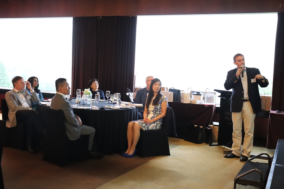 Zuellig Pharma Korea president Erwan Vilfeu talks about 'artificial intelligence (AI) doctors' at the Grand Hyatt Seoul, Tuesday. Courtesy of Corea Image Communication Institution (CICI)