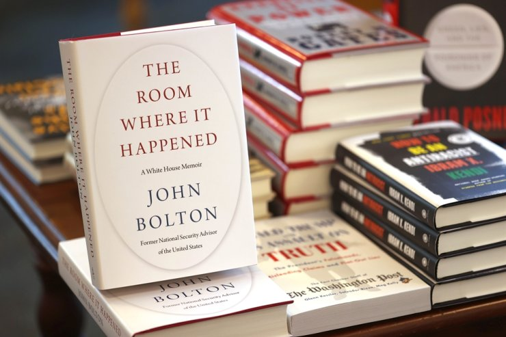 Copies of the new book 'The Room Where It Happened' by former national security adviser John Bolton are displayed at Book Passage in Corte Madera, California, Tuesday. /AFP