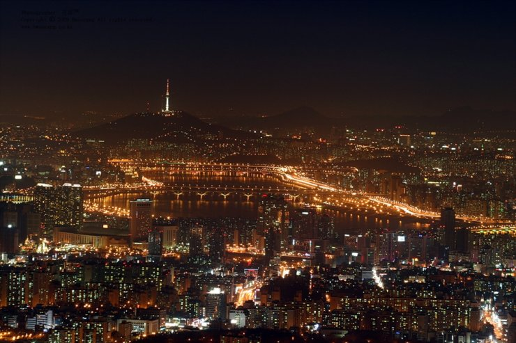 Ночной вид Сеула