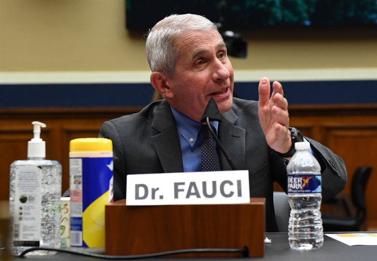 Dr. Anthony Fauci, director of the National Institute for Allergy and Infectious Diseases, testifies during a House Energy and Commerce Committee hearing on the Trump Administration's Response to the COVID-19 Pandemic, on Capitol Hill in Washington, DC on Tuesday, June 23, 2020. /UPI