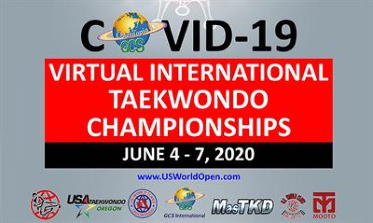 Seen above is the promotional banner of the Virtual International Taekwondo Championships event. / Courtesy of MasTKD