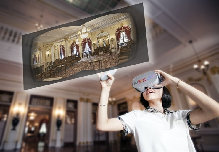 Virtual reality (VR) tour of the Deoksu Palace is available through Jump VR application provided by SK Telecom. / Courtesy of Cultural Heritage Administration