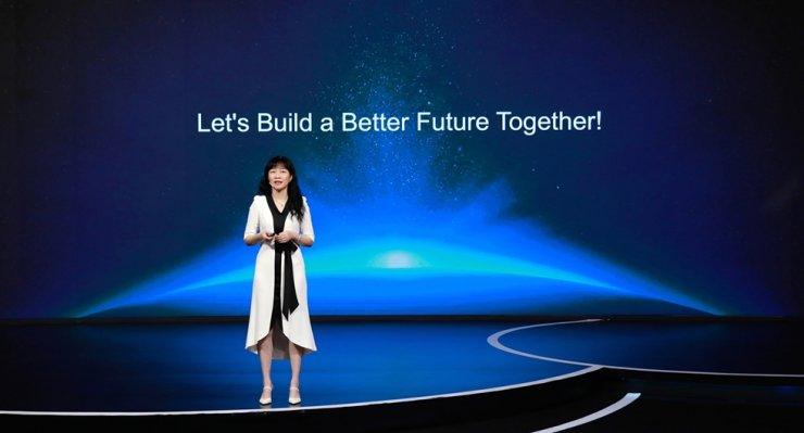 Huawei Corporate Senior Vice President and Director of the Board Catherine Chen delivers a keynote speech at the online Better World Summit 2020, on July 29. / Courtesy of Huawei