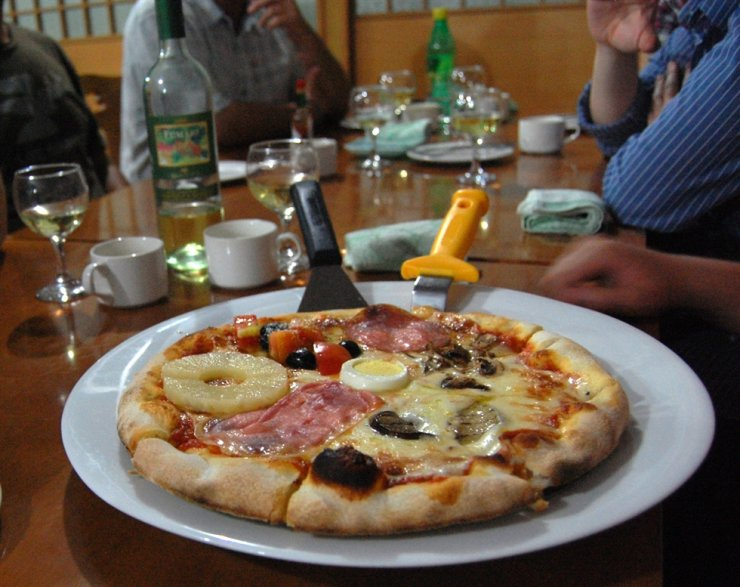 A 'jonghap' or combination pizza / Courtesy of Jon Dunbar