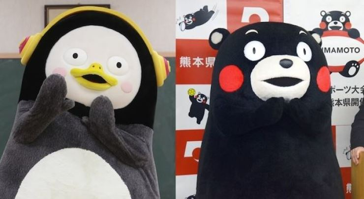 Pengsoo, left, and Kumamon. Yonhap, Kyodo