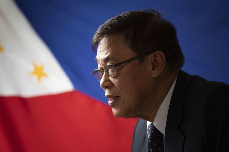 Noe Albano Wong, then-Philippine ambassador to Korea, speaks with The Korea Times at the embassy in Yongsan-gu, Seoul, in September 2019. / Korea Times photo by Choi Won-suk