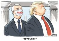 Pence betrays Trump with mask