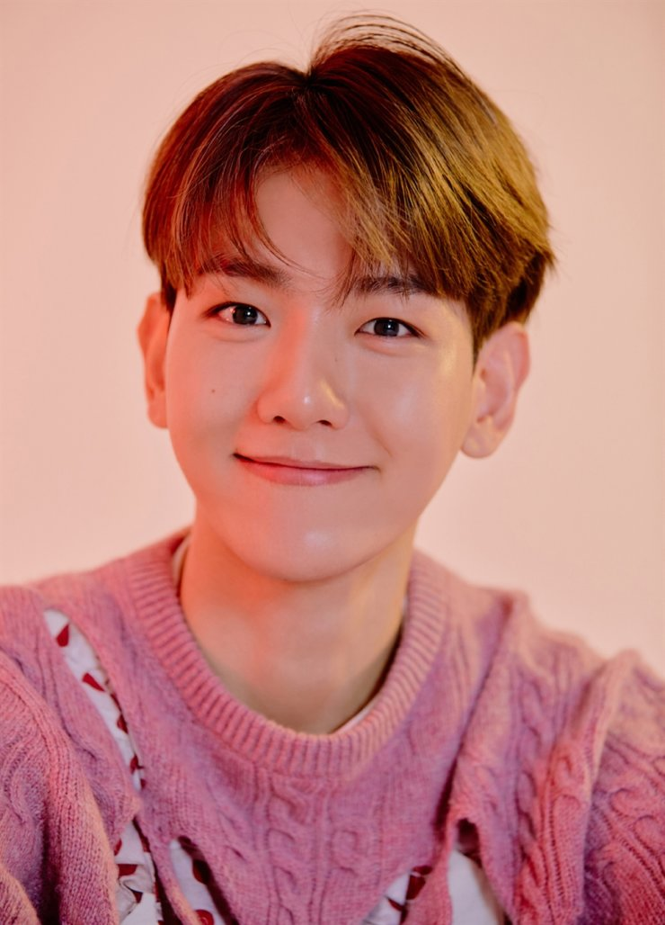 EXO's main vocalist Baekhyun topped 1 million sales with his solo album 'Delight.' Courtesy of SM Entertainment