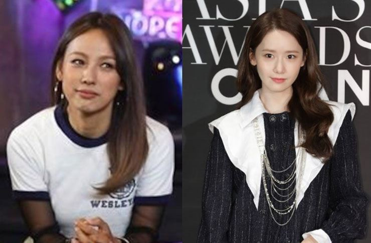 Singers Lee Hyo-ri,left, and Yoona faced criticism after live-streaming their karaoke visit, Wednesday. Korea Times file