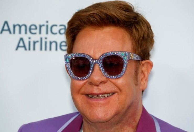 Elton John arrives to attend a Midsummer Party for the Elton John Aids Foundation in Antibes, France, July 24, 2019. REUTERS/Eric Gaillard