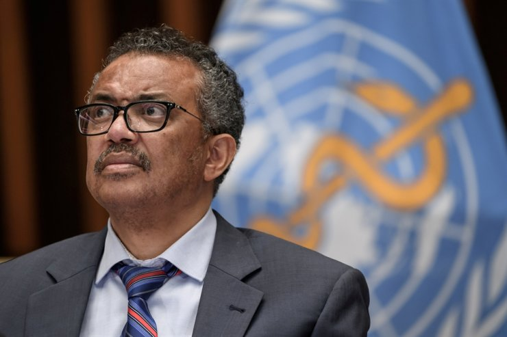 World Health Organization (WHO) Director-General Tedros Adhanom Ghebreyesus attends a news conference organized by Geneva Association of United Nations Correspondents amid the COVID-19 outbreak, caused by the novel coronavirus, at the WHO headquarters in Geneva, Switzerland, July 3, 2020. Reuters