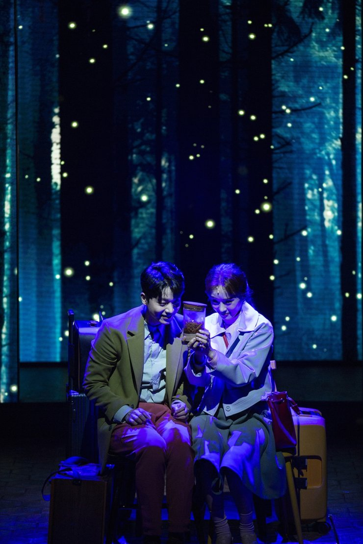 Jeon Seong-woo, left, as Oliver and Kang Hye-in as Claire in a scene from the musical 'Maybe Happy Ending' / Courtesy of CJ ENM