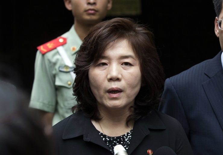 North Korean Vice Foreign Minister Choe Son-hui. Yonhap