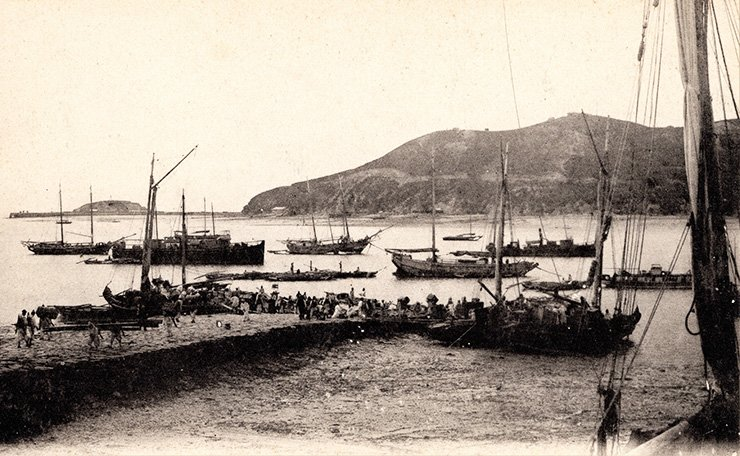Jemulpo port in the late 19th century. Courtesy of Diane Nars Collection