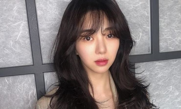 Former AOA member Mina. Capture from Mina's Instagram