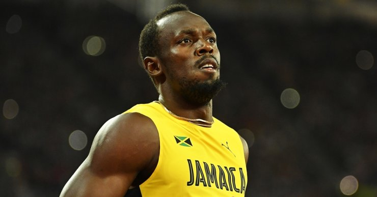 Jamaican sprint legend Usain Bolt reacts after competing in the men's 100m heats at the London 2017 IAAF World Championships in London, Aug. 4, 2017. Bolt has been tested positive for the novel coronavirus, Jamaica's health ministry confirmed Aug. 24, 2020. EPA