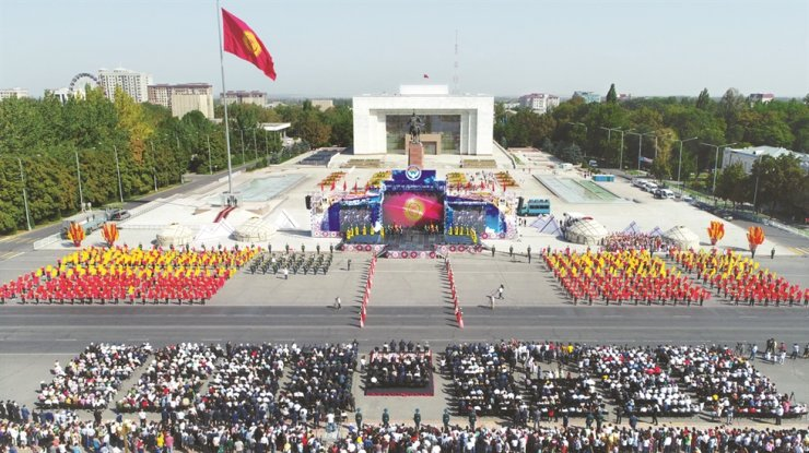 A celebration takes place in Kyrgyz city of Bishkek for the 28th anniversary of Kyrgyz Republic's Independence Day in 2019. / Courtesy of Embassy of Kyrgyzstan