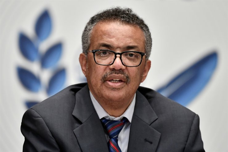 World Health Organization (WHO) Director-General Tedros Adhanom Ghebreyesus attends a news conference organized by Geneva Association of United Nations Correspondents (ACANU), July 3, 2020. Reuters