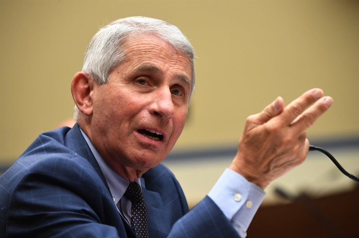 Dr. Anthony Fauci, director of the National Institute for Allergy and Infectious Diseases, testifies before a House Subcommittee on the Coronavirus Crisis hearing on a national plan to contain the COVID-19 pandemic, on Capitol Hill in Washington, DC, USA, 31 July 2020. The hearing is titled 'The Urgent Need for a National Plan to Contain the Coronavirus.' EPA/KEVIN DIETSCH