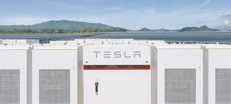 Tesla's Powerpack energy storage system / Captured from Tesla webpage