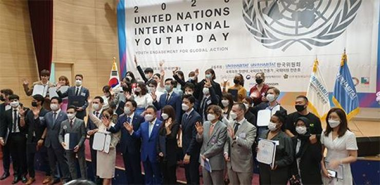 The U.N/-Habitat Korean National Committee named new global ambassadors. Courtesy of FMG Entertainment