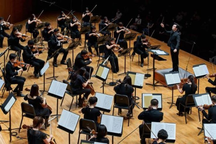 The Seoul Philharmonic Orchestra performs during SAC Classic Festival at Seoul Arts Center on July 28. Courtesy of SAC
