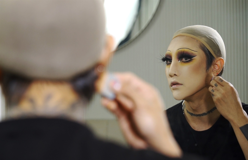 Drag artist Kim Young-rong, who goes by the name Nana, has been at the center of drag entertainment for about 14 years. Korea Times photo by Kim Kang-min