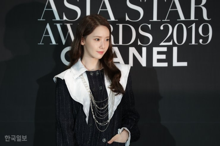 Yoona at the Marie Claire Asia Star Awards at Paradise Hotel Busan in October 2019. Korea Times file
